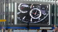 德国柏林地标电子屏之:柏林瑞士酒店LED户外广告